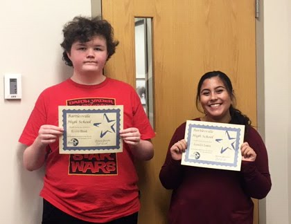 Freshman Students of the Month for December - Rivers Hood & Jenifer Lopez