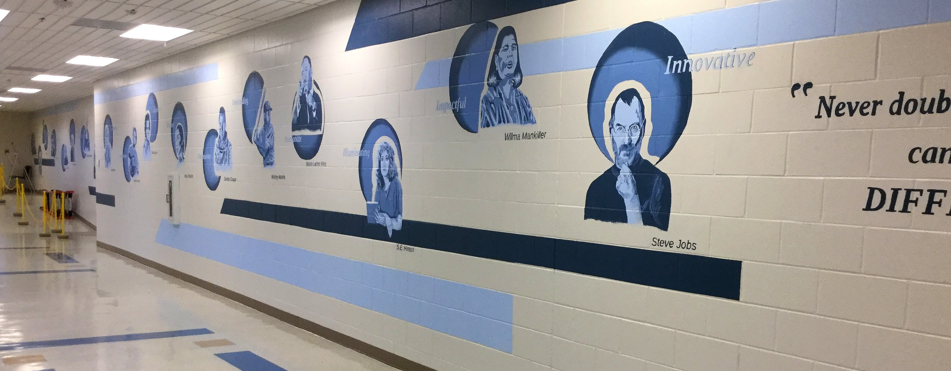 BHS Commons Mural from south end