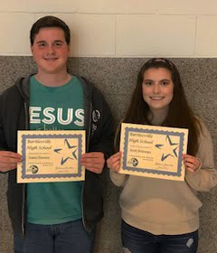 Logan Demaray and Avery Boulanger - 12th grade Students of the Month for January 2019