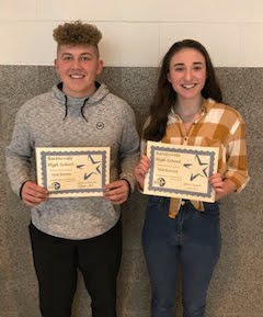 Noah Wassom and Kylie Bostwick - 11th grade Students of the Month for January 2019