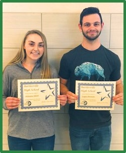 Junior Students of the Month for February 2019 - Jules Ahlert and Logan Swanson