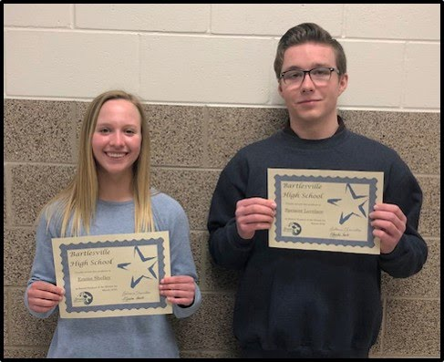 Senior Students of the Month for March 2019 - Emma Shelley and Spencer Lovelace