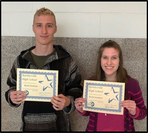 Freshmen Students of the Month for March 2019 - Shaileigh Gilkey and John Boulanger