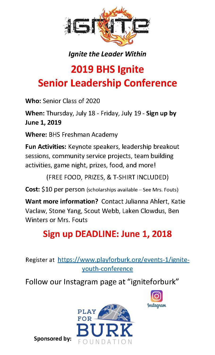 BHS 2019 Ignite Leadership Conference