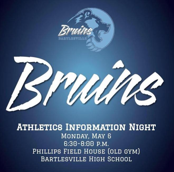 Athletics Info Night Flyer