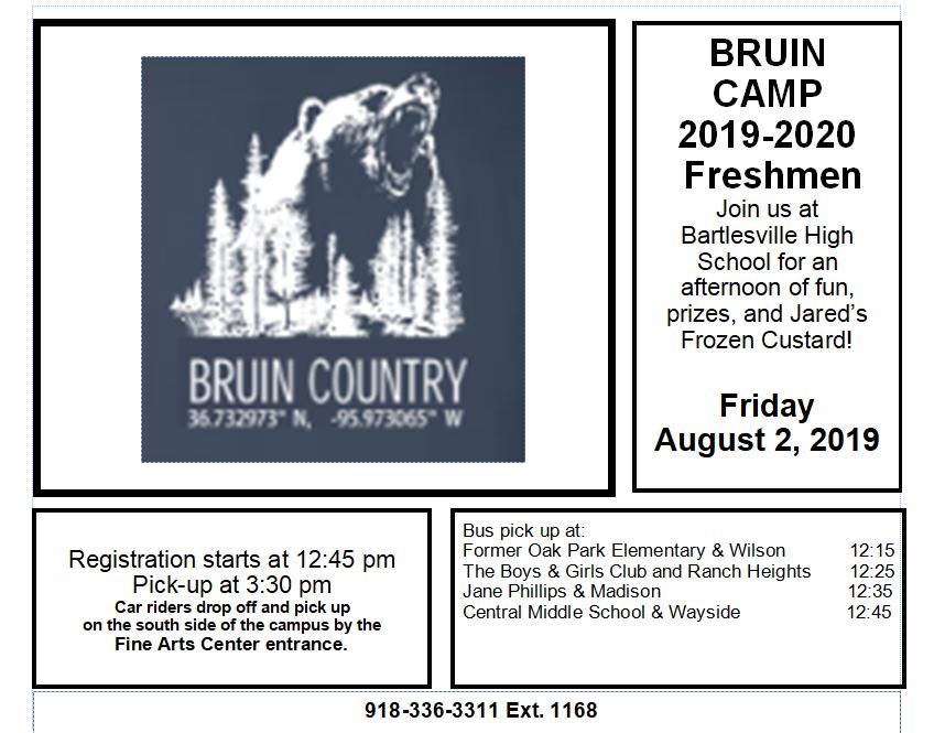 BHS Bruin Camp 2019