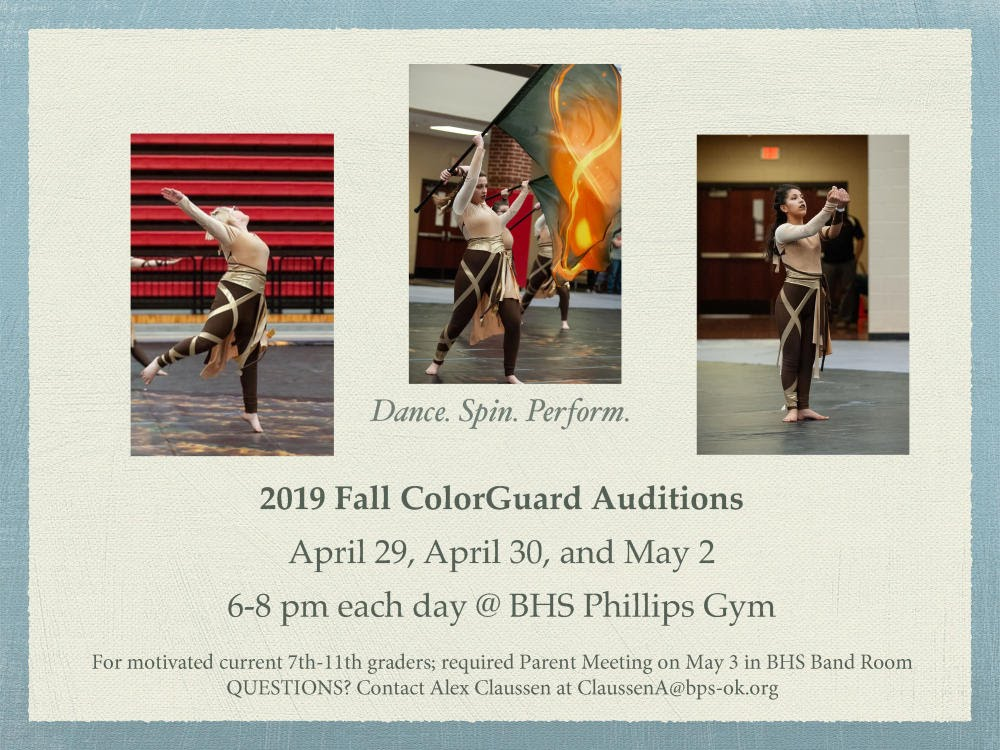 Color Guard Flyer