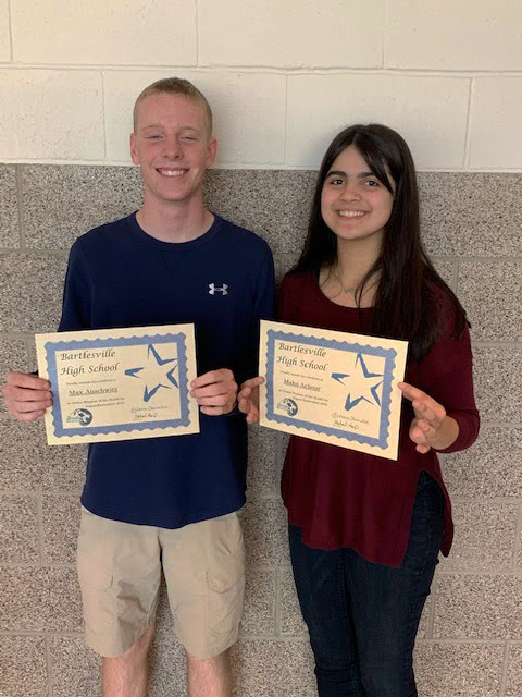 Juniors: Max Auschwitz and Maha Achour, Junior Students of the Month for August/September 2019