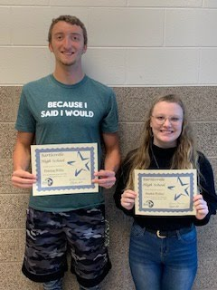 Junior Students of the Month for Sept./Oct. 2019 -  Preston Willis and Sophie Walker