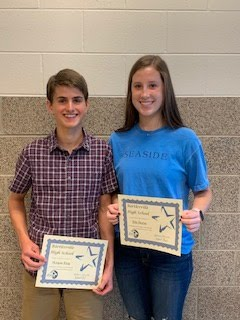 Students of the Month for Sept.,/Oct. 2019 - Sophomores:  Morgan King & Ella Butler