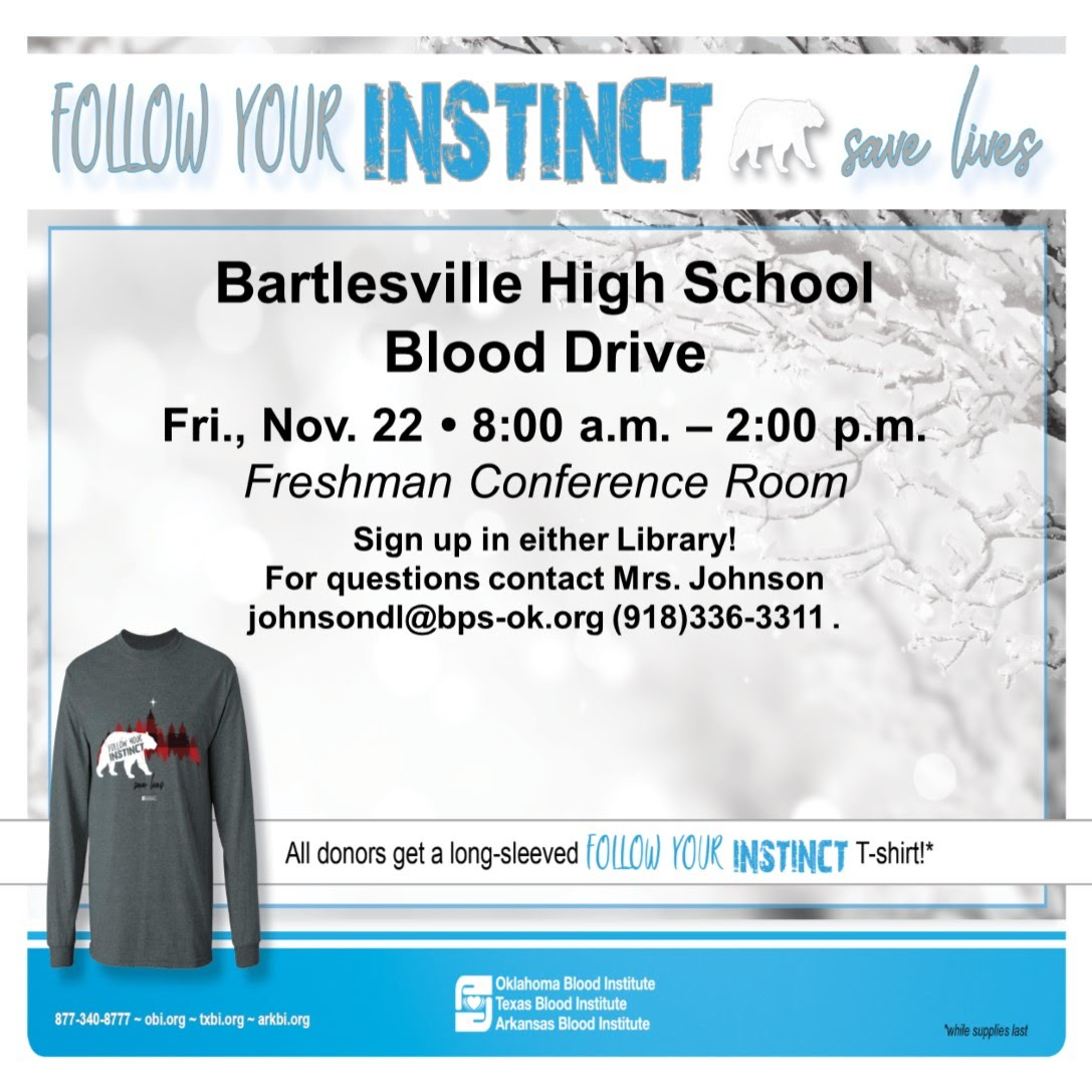 2019 BHS Blood Drive Poster