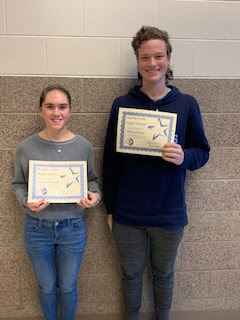 Junior Students of the Month for Oct./Nov. - Kathtyn McIntyre and William Parsley