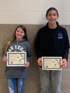 Freshman Students of the Month for Oct.,/Nov. - Macie Schaper and Ademir Hall