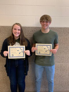 Sophomore Students of the Month for Oct./Nov. - Kessi Cabler and Gage Keaton