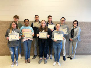 Students of the Month for Oct/November