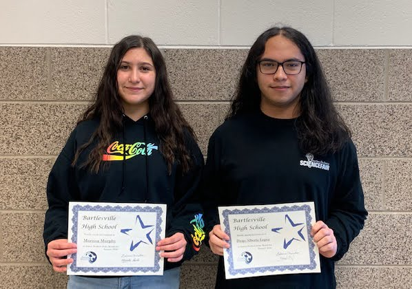 Juniors, Marissa Murphy & Diego Alberto Lopez January Students of the Month
