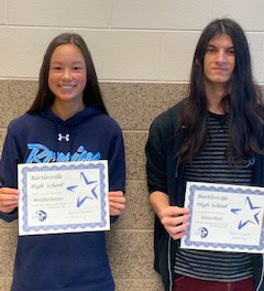 Sophomores:  Jennifer Gruber and Julien Hood, March 2020 Students of the Month