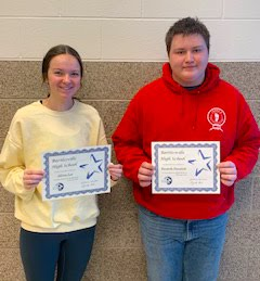 Seniors:  Allison Lee and Kenneth Standish, March 2020 Students of the Month
