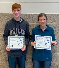 Freshman:  Ledi Mull and Thomas Parsley, March 2020 Students of the Month