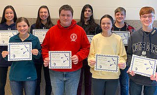 BHS March 2020 Students of the Month