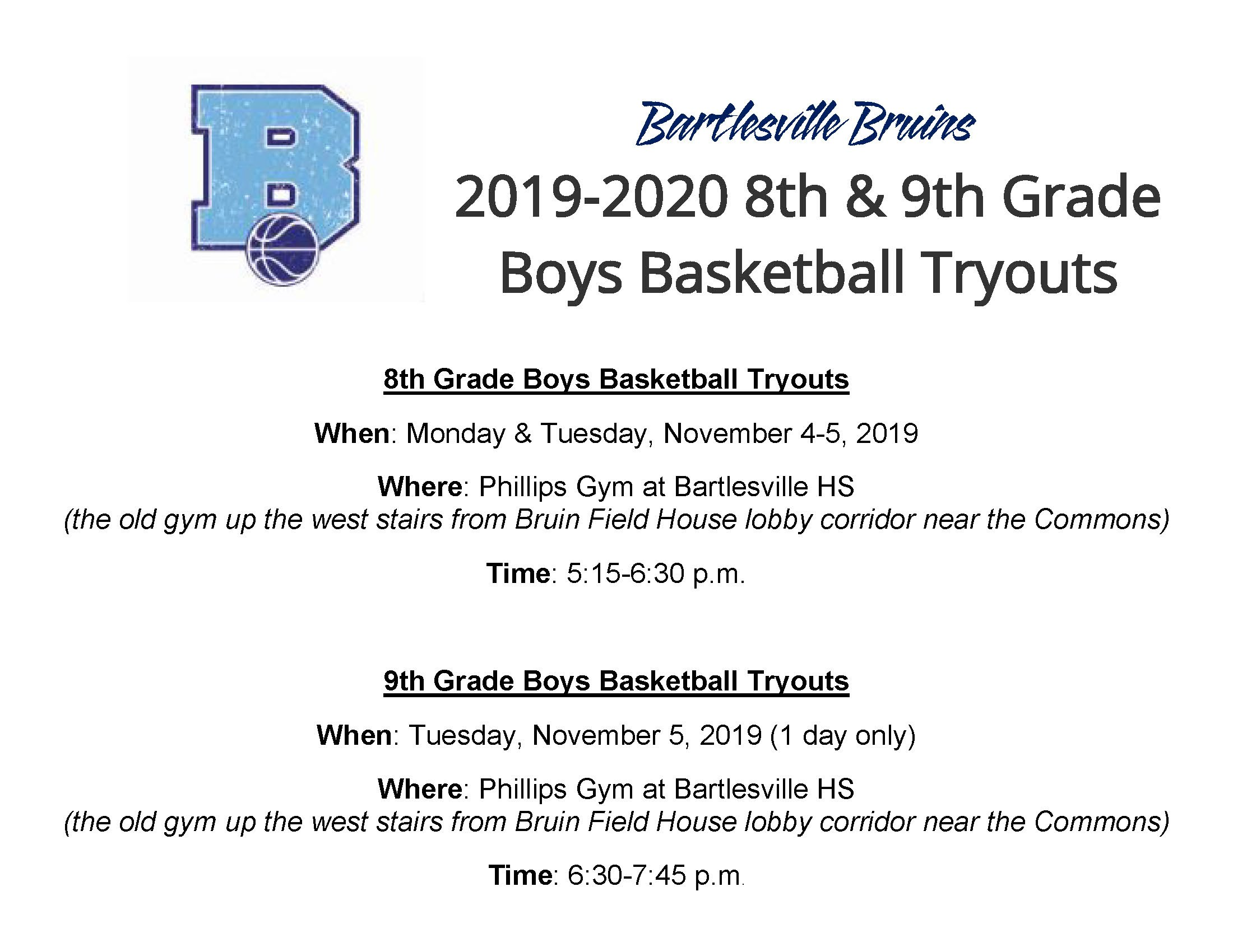 Tryouts