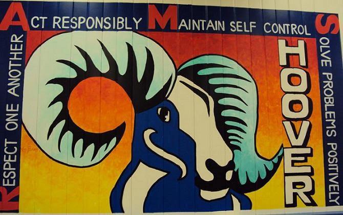 Hoover Rams Mural