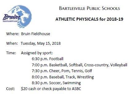 Athletics physicals