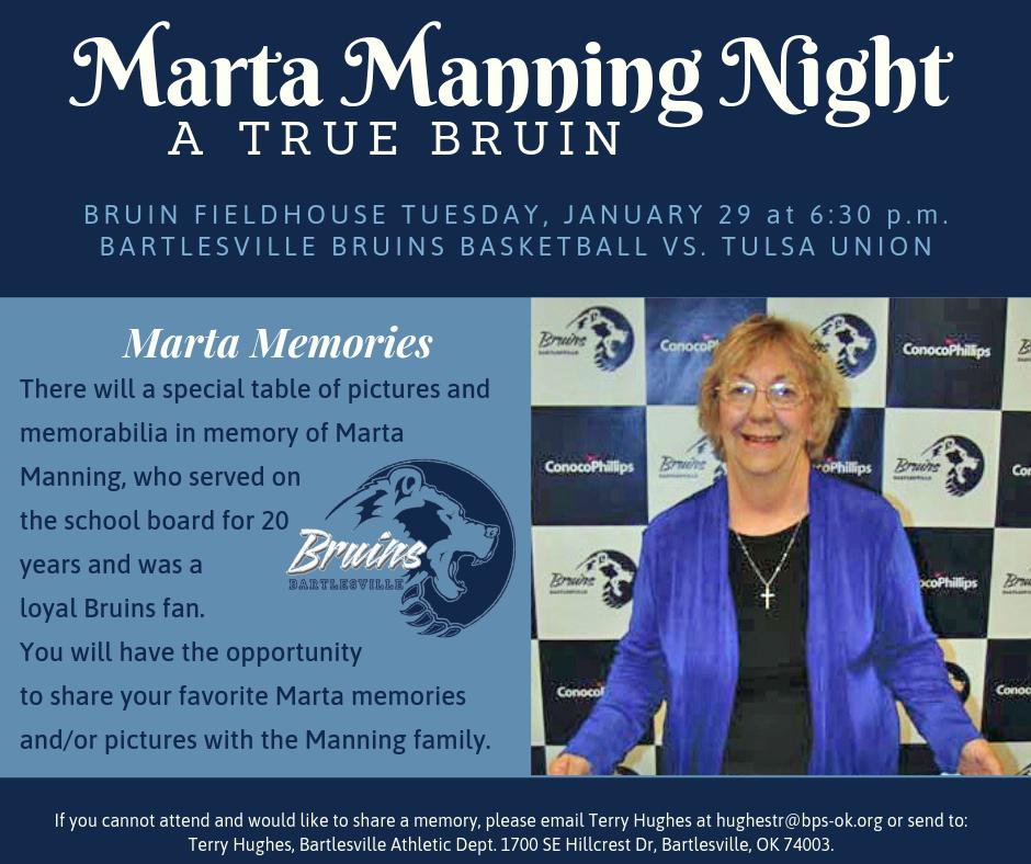 Marta Manning Night