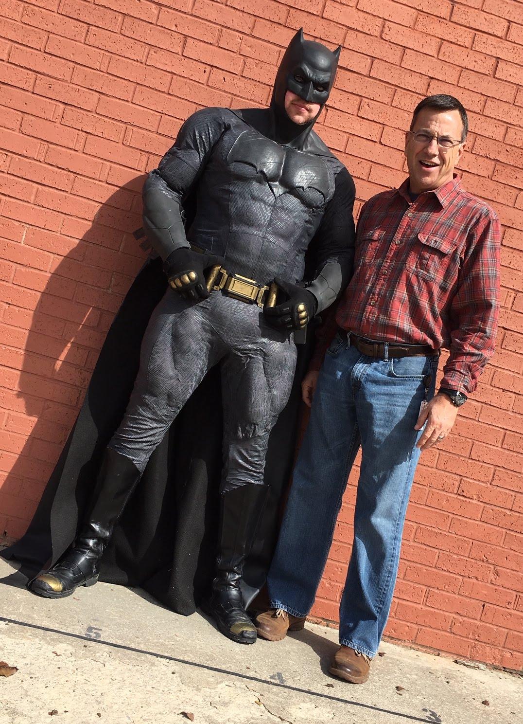 Batman with Principal Copeland