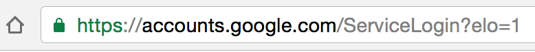 Good Google address bar