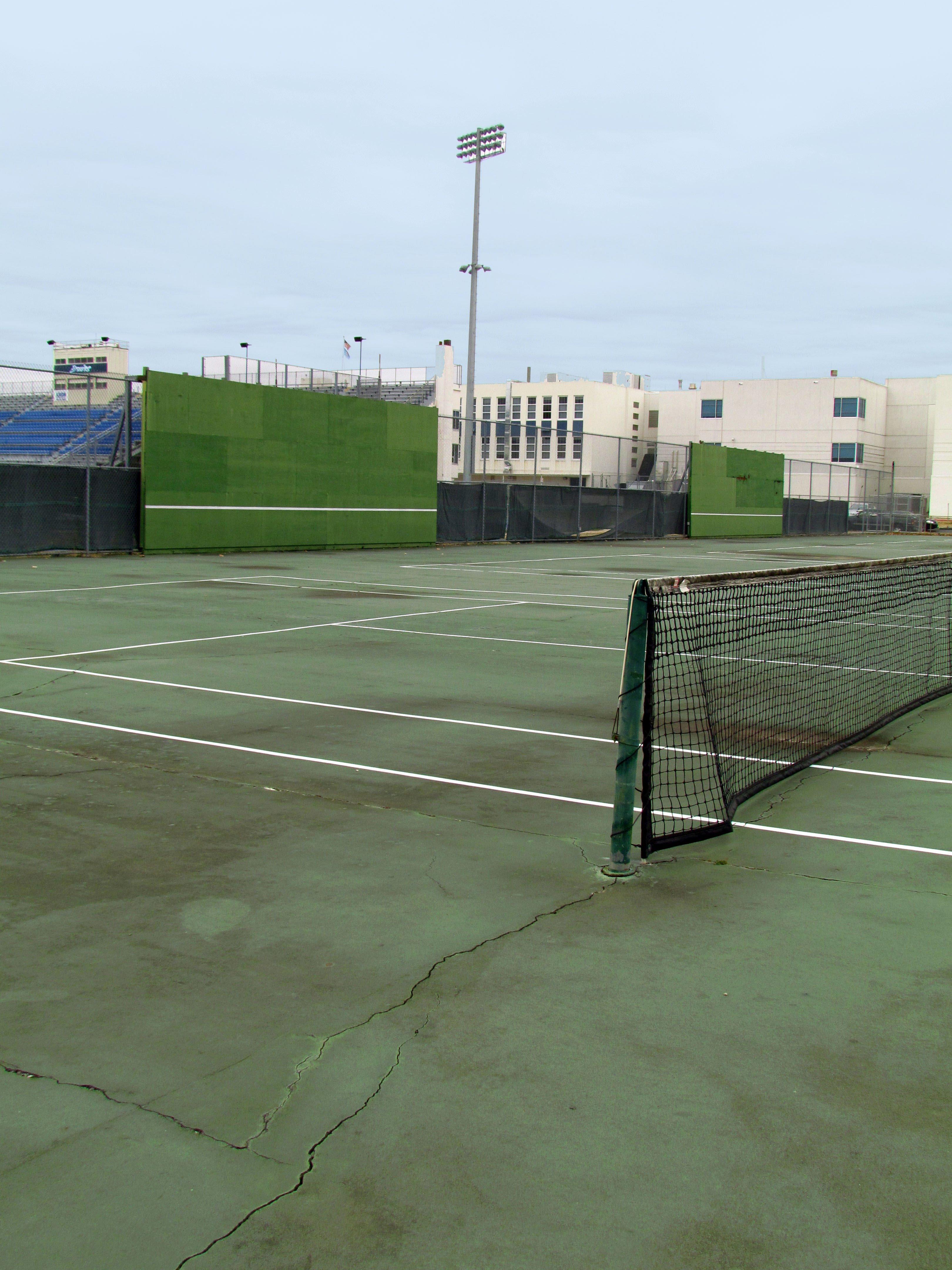 Decrepit tennis courts