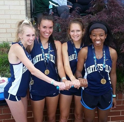 State Girls 6A 4x800m Relay Champions