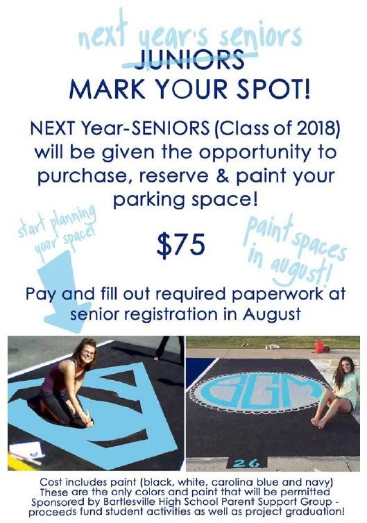 Senior 2018 Parking