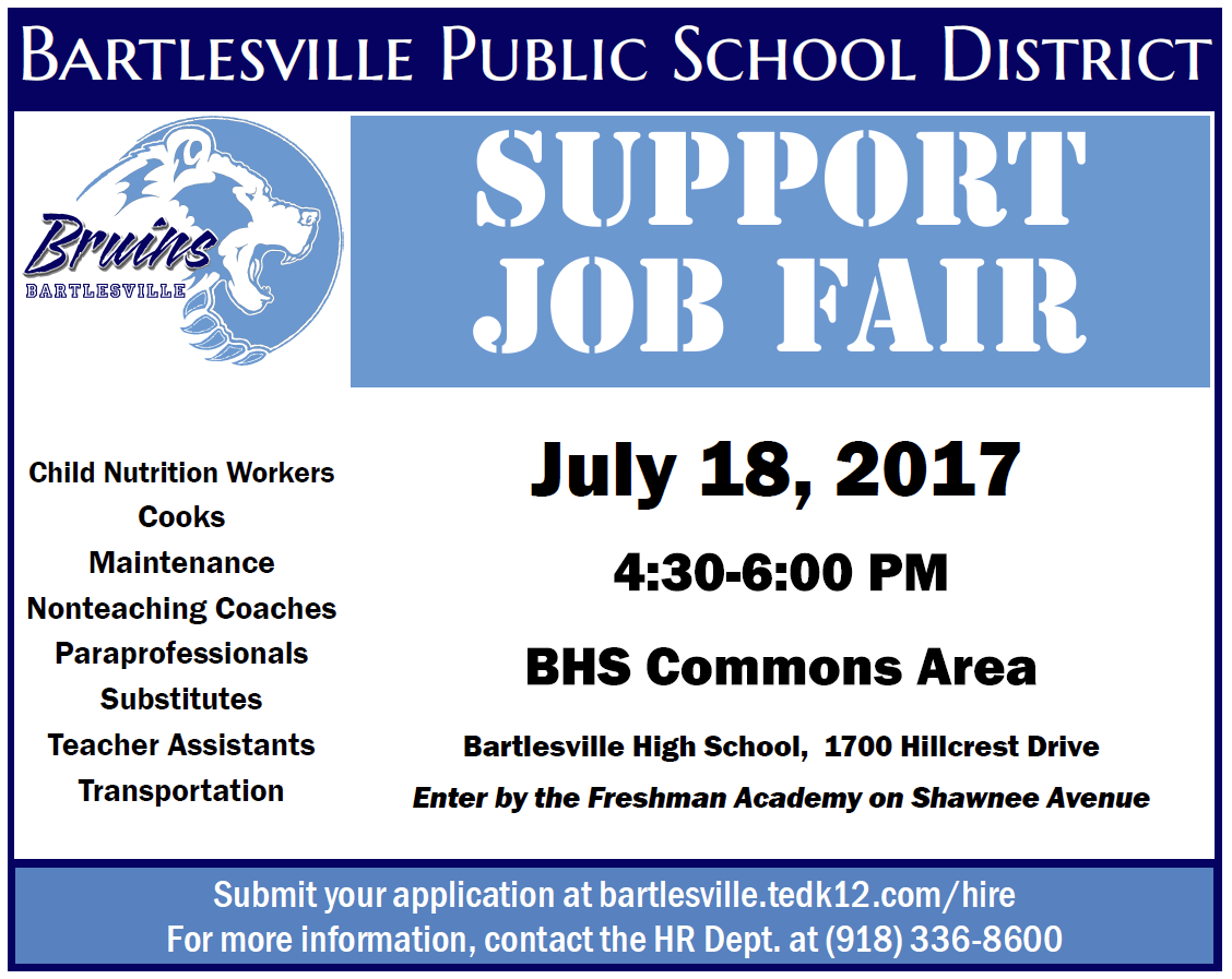 Support Staff Job Fair