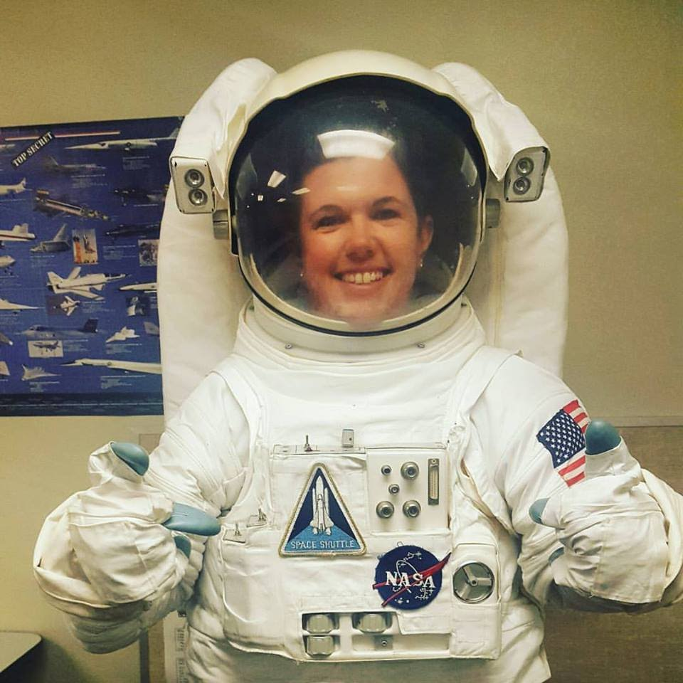 Ms. Hough at Space and Flight training in July 2016