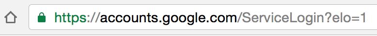 Good Google address bar