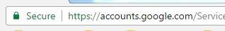 Safe Google login
