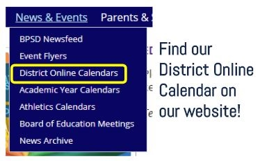 Online calendars link