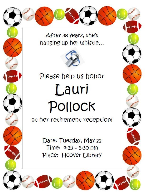 Lauri Pollock's retirement reception