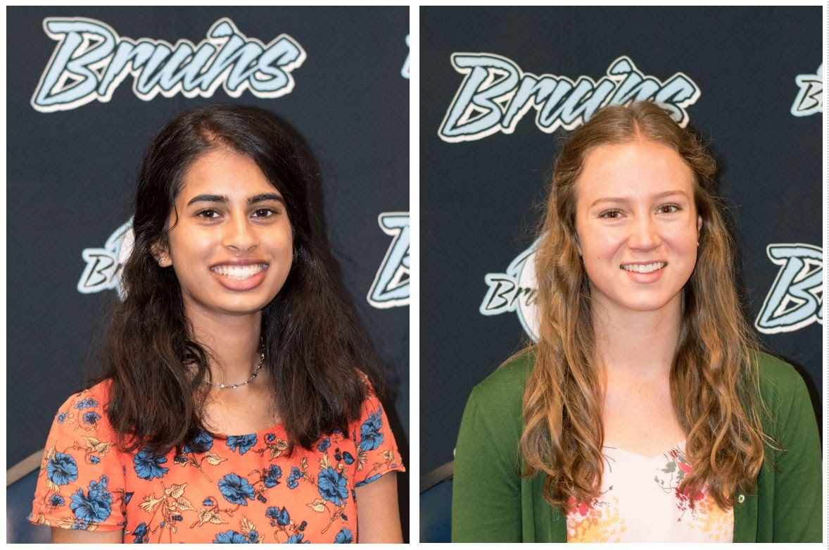 2018 National Merit Semifinalists Aarya Ghonasgi and Liza Williams