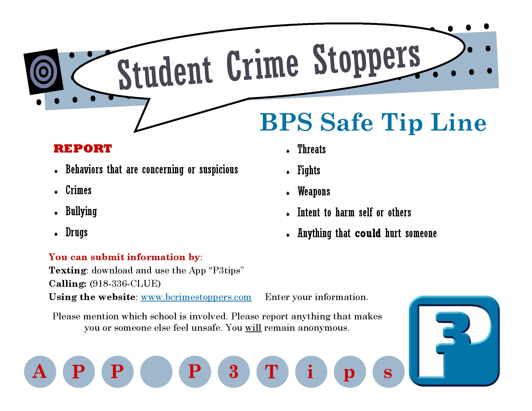 Student Crime Stoppers