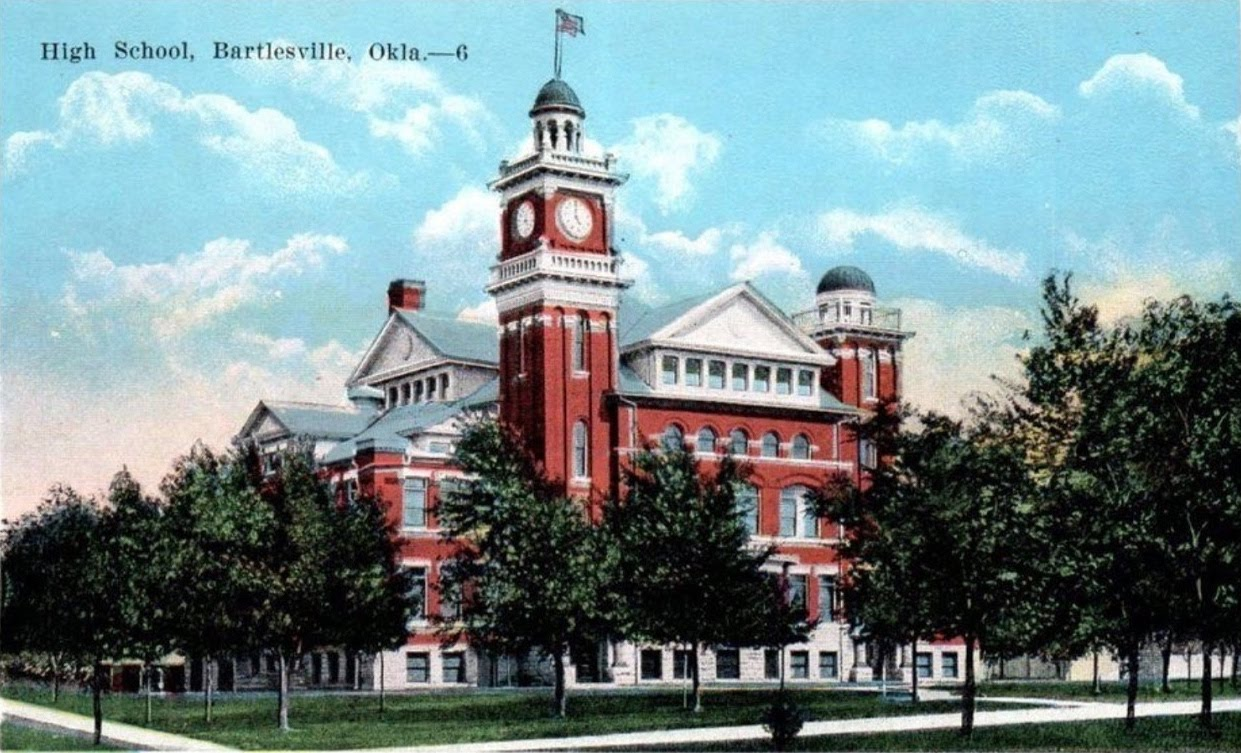 Original Bartlesville High School Postcard