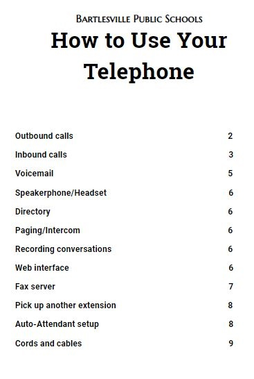 Phone manual
