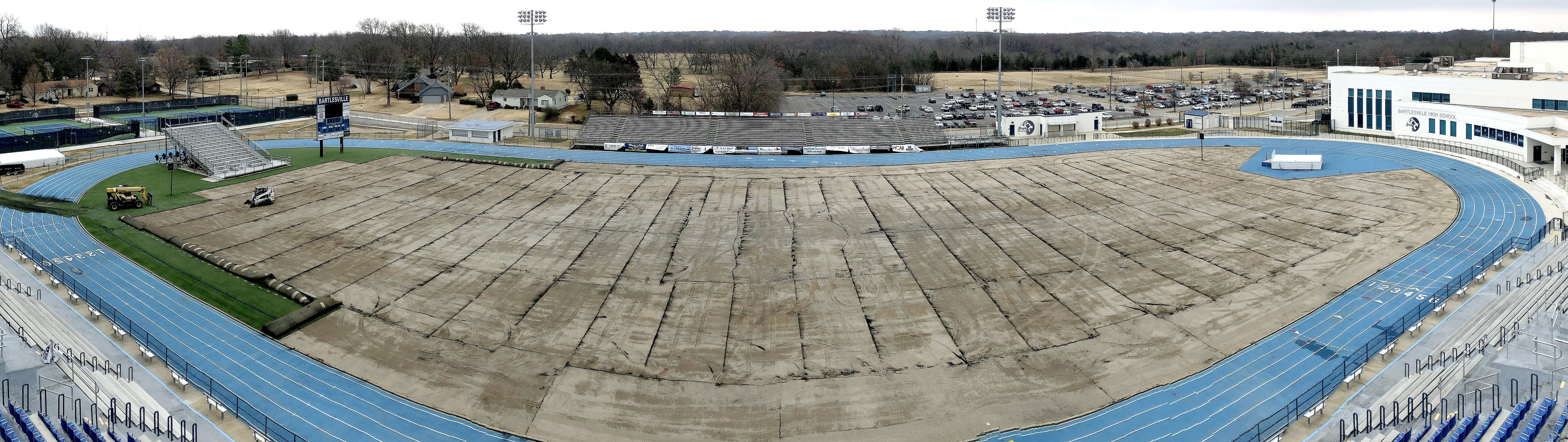 Panorama of Lyon Field without turf
