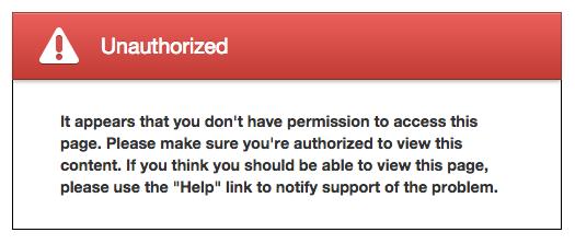 Unauthorized message