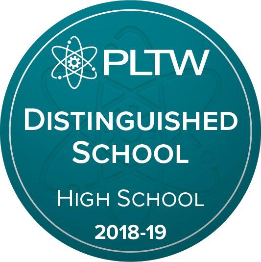 PLTW Distinguished High School Badge