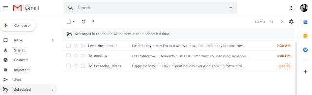 Scheduled folder
