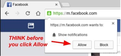 Notification allow or block prompt