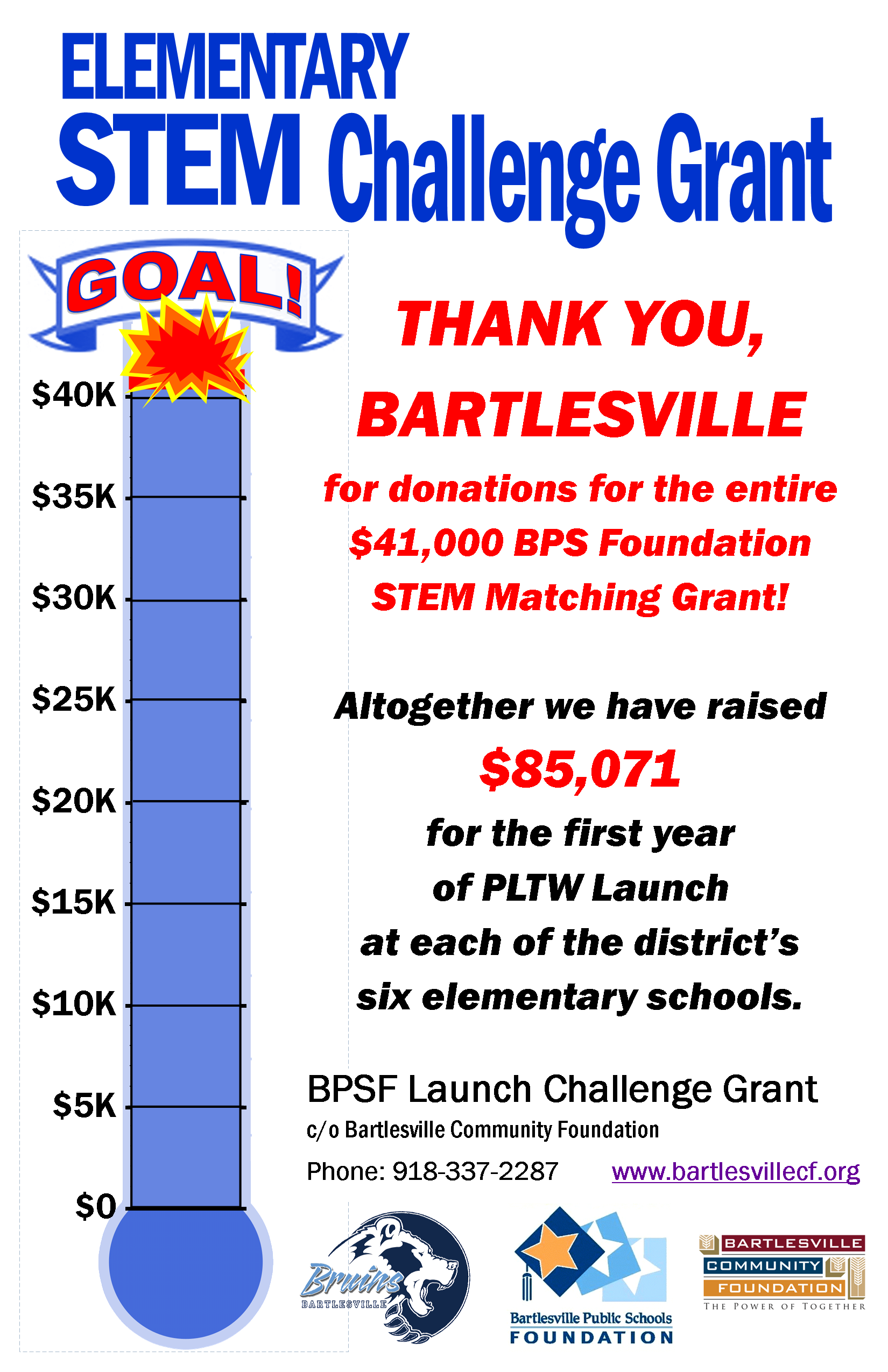Challenge Grant Payout