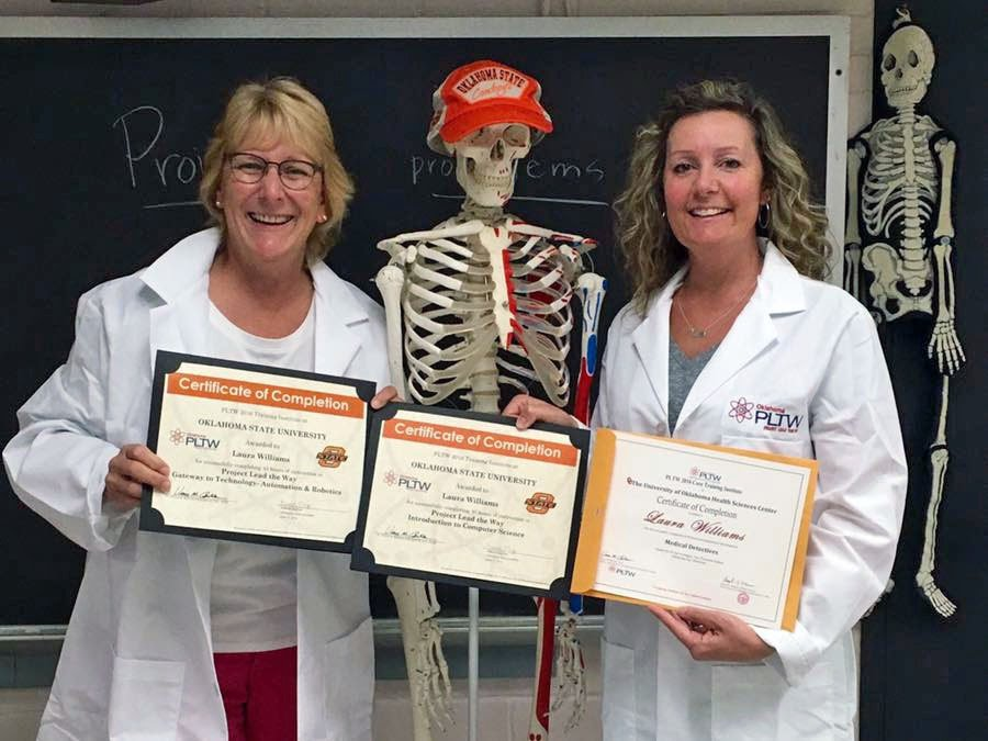 Ms. Williams & Ms. McKinney completed three PLTW module trainings in the summer of 2016
